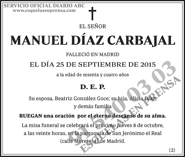 Manuel Díaz Carbajal